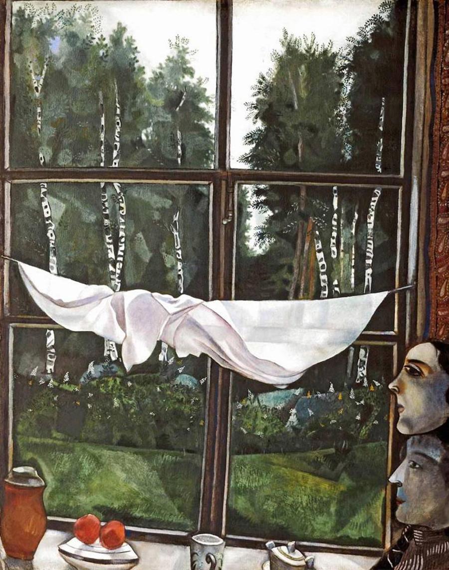 Marc Chagall. Fenêtre à la datcha, 1915