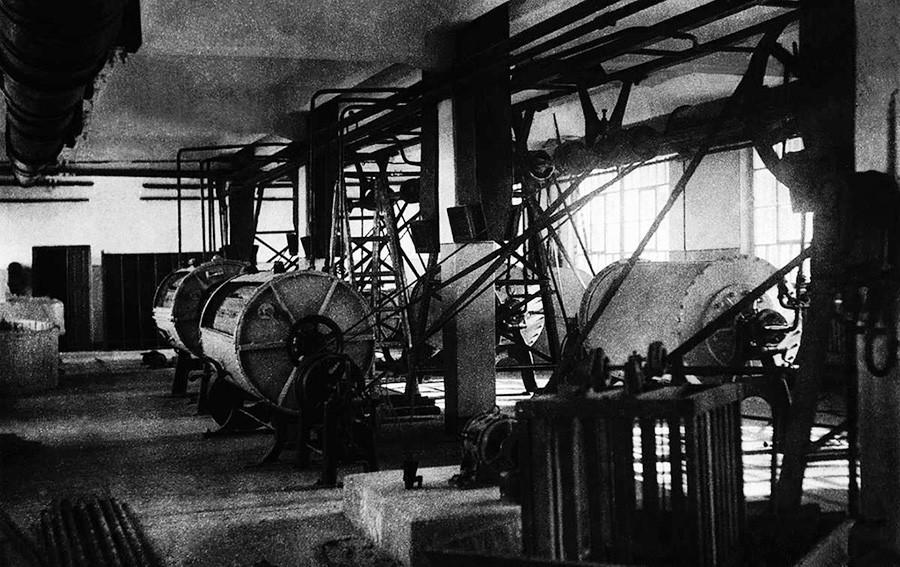 Lavandería en Chelyabinsk, 1935-1940.
