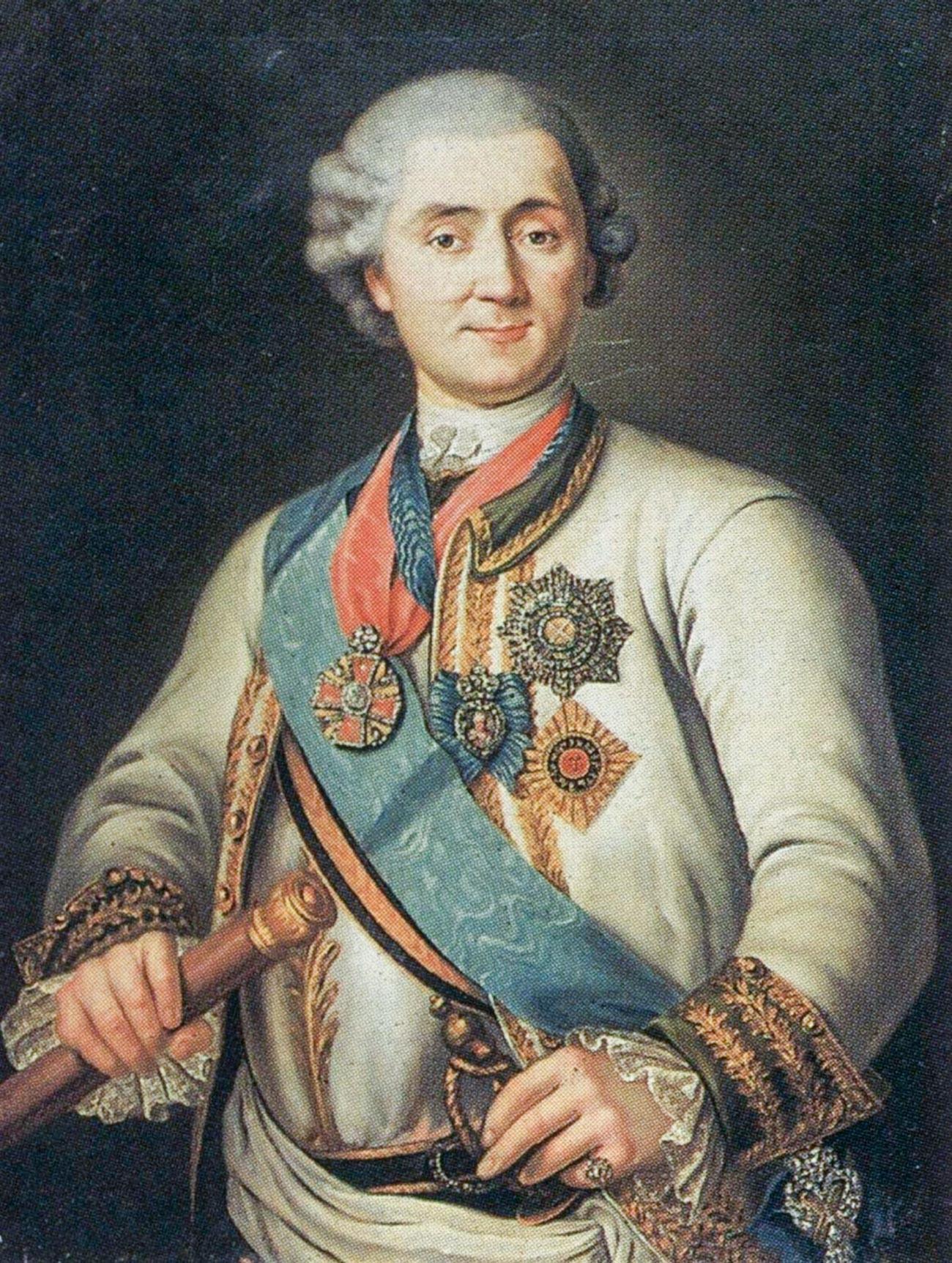 Портрет графа А. Г. Орлова-Чесменского.