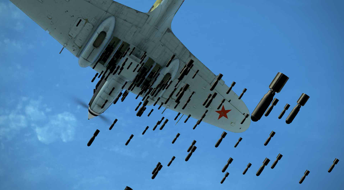Виузелни приказ дејства совјетске ваздухопловне минијатурне кумулативне бомбе ПТАБ