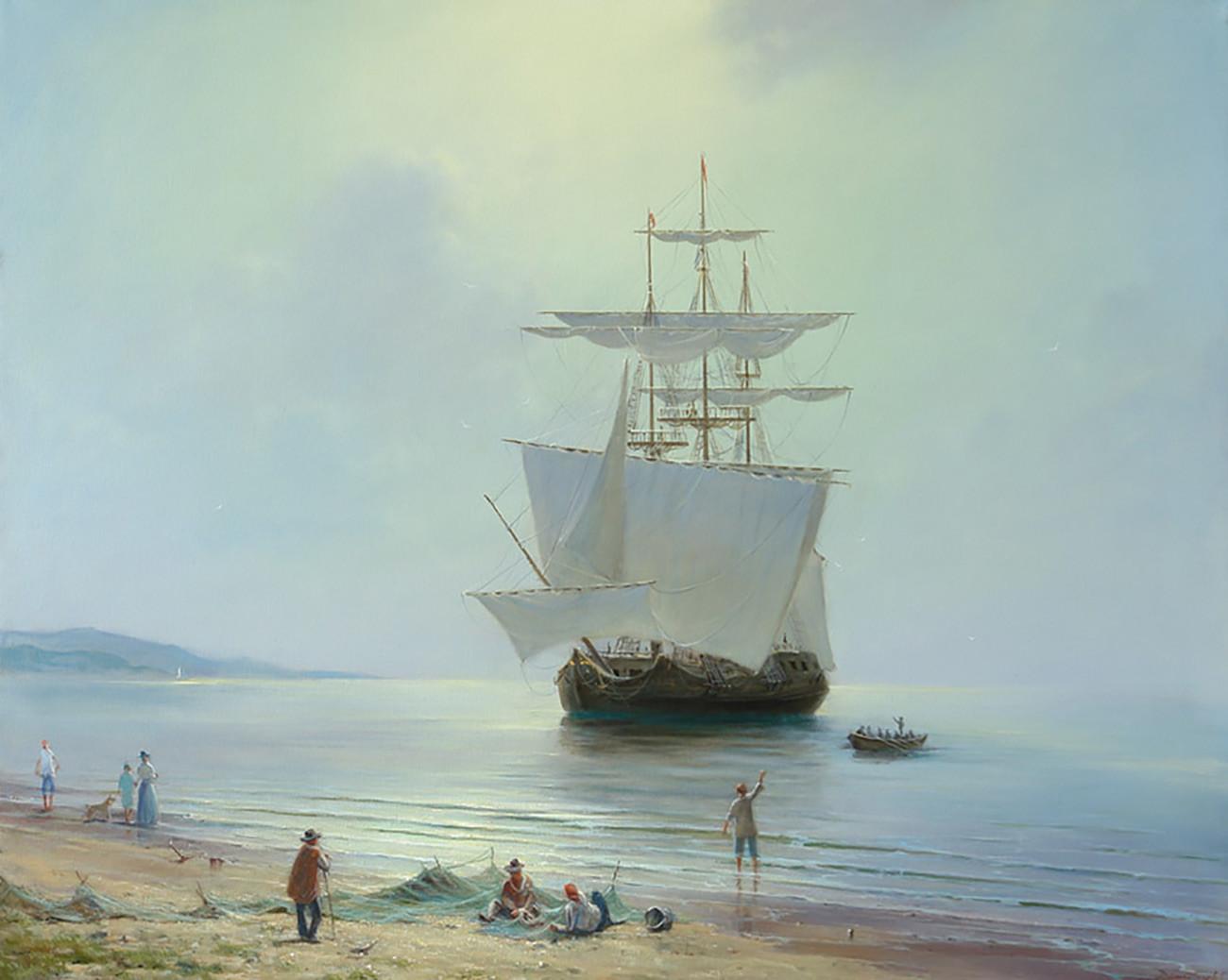 Gueorgui Dmitriev. Chaude journée à la mer (2015)