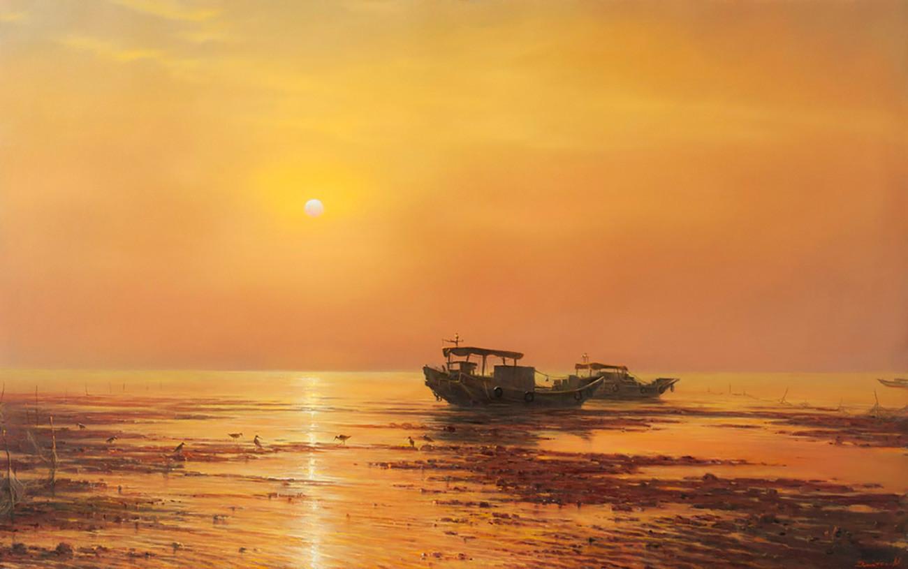 Gueorgui Dmitriev. Levé de soleil sur le sud de la mer de Chine (2015)