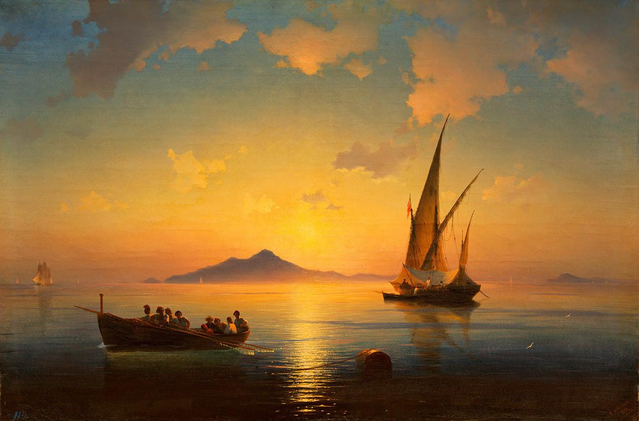 Ivan Aïvazovski. La Baie de Naples (1841)