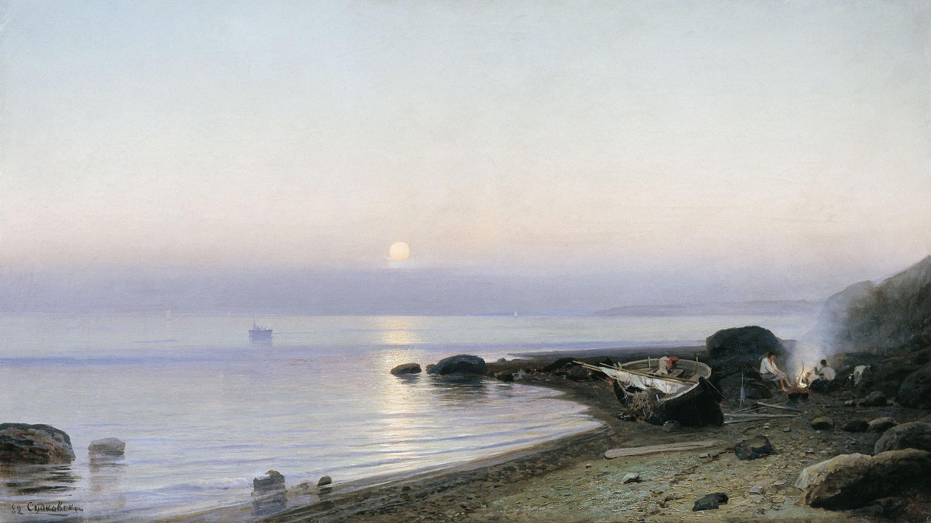Roufim Soudkovski. Au bord de mer (1882)