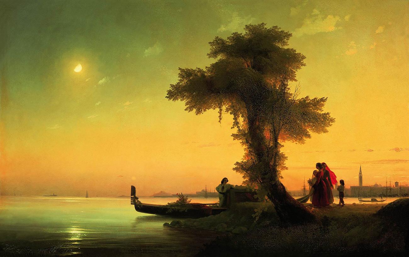 Ivan Aïvazovski. Vue de la lagune de Venise (1841)