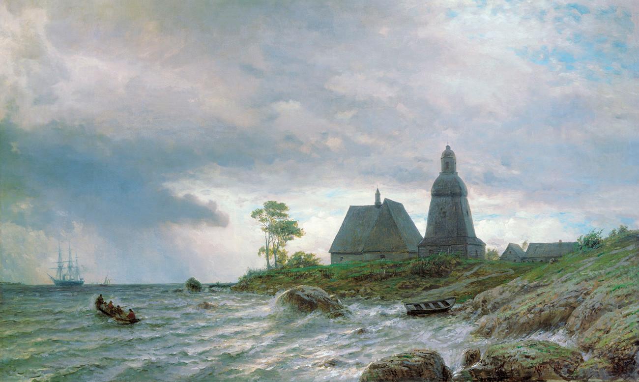 Lev Lagorio. Paysage du nord (1872)