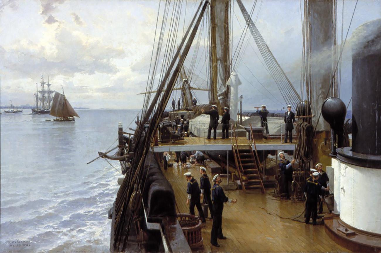 Alexandre Beggrov. Sur le pont de la frégate «Svetlana» (1884)