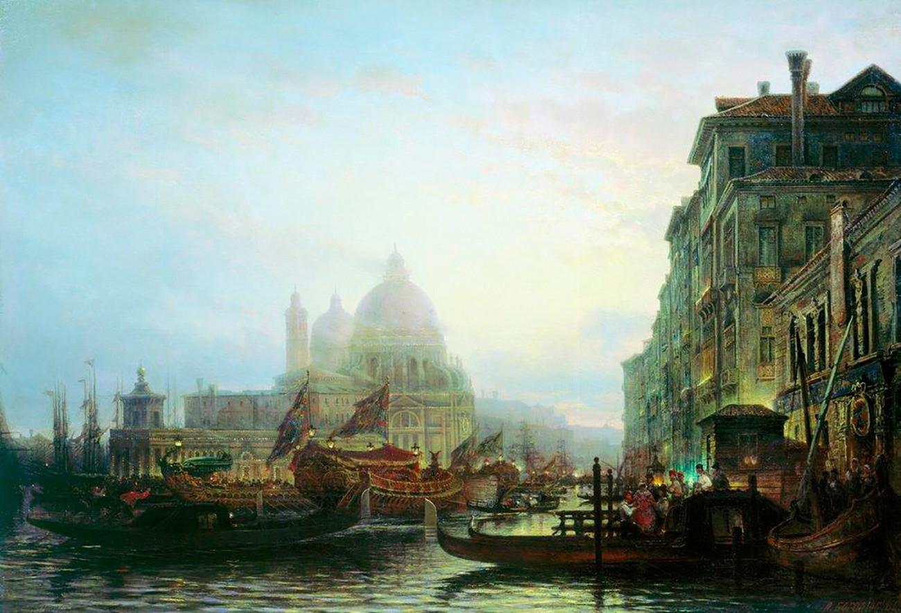 Alekseï Bogolioubov. Venise de nuit (1850)