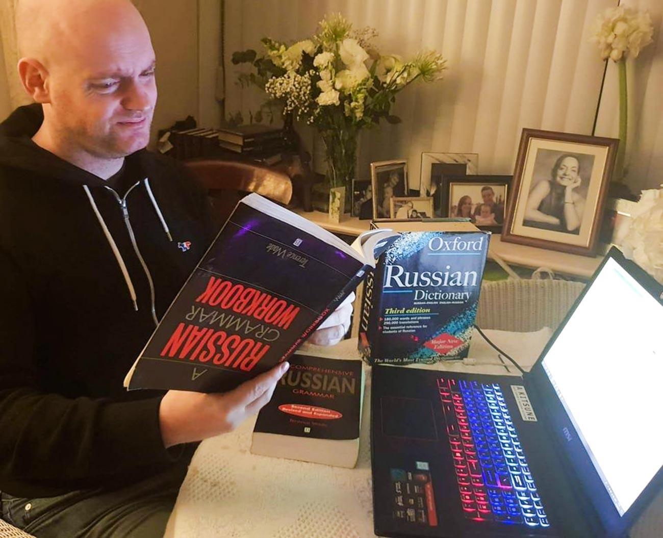 If only 'A Russian grammar workbook' helped to speak fluently...