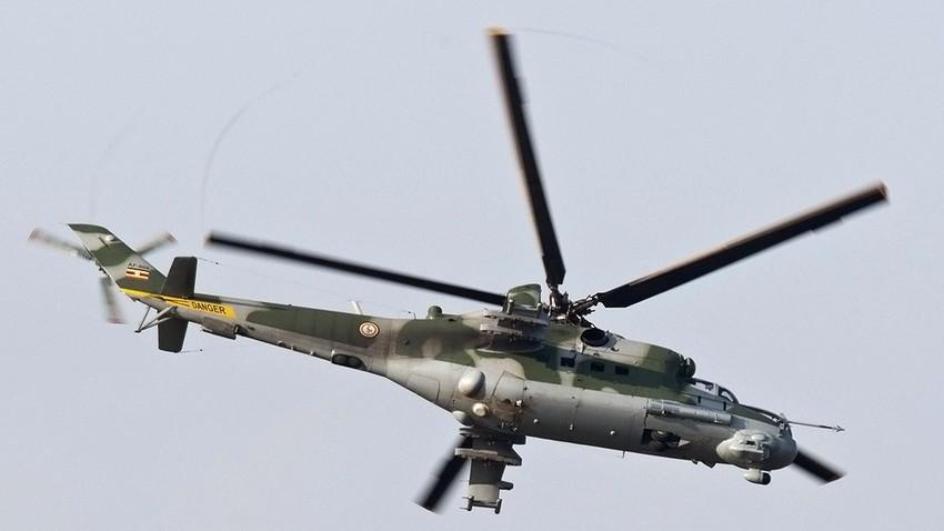 Mi-24 utilizado por Uganda