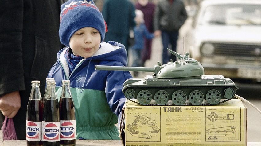 A Pepsi tornou-se o primeiro produto ocidental vendido na URSS.