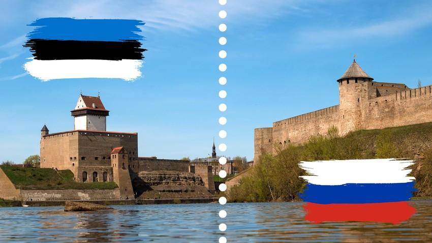 Grenze Russland-Estland.