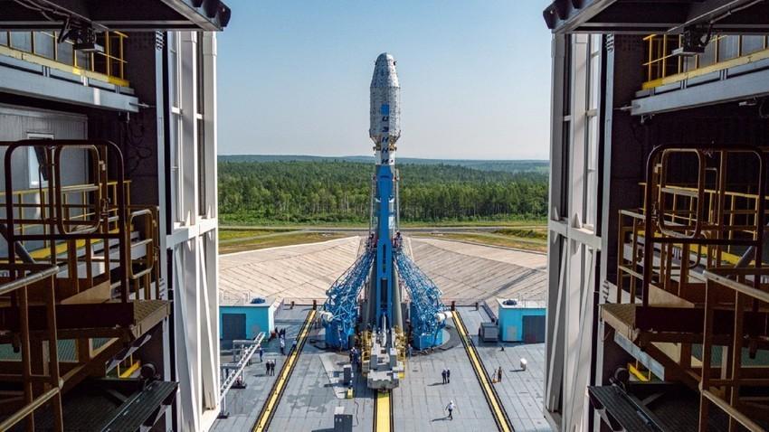 En el cosmódromo siberiano Vostotchni