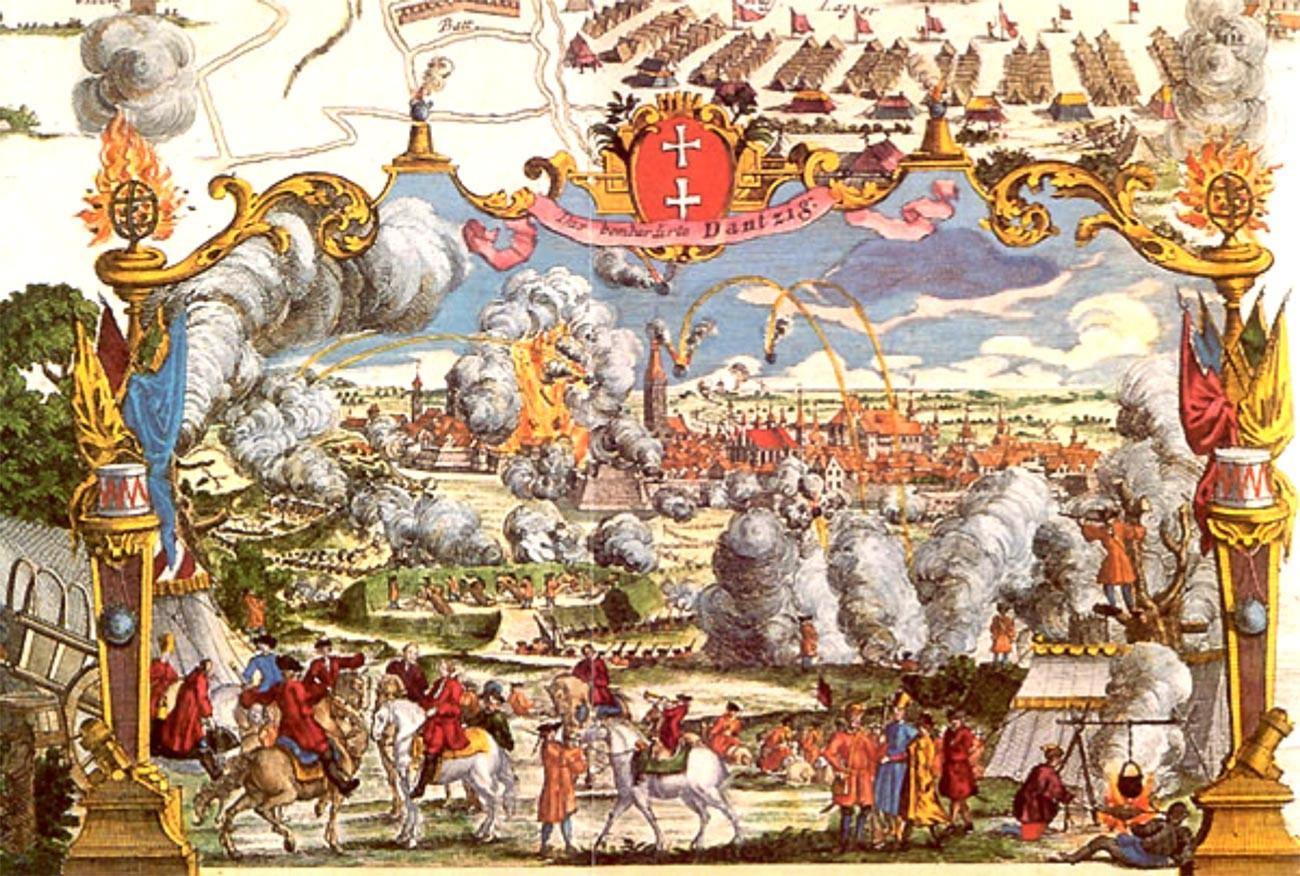 Belagerung von Danzig in 1734.