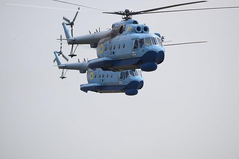 Helicópteros ucranianos participantes en las maniobras Sea Breeze 2018.