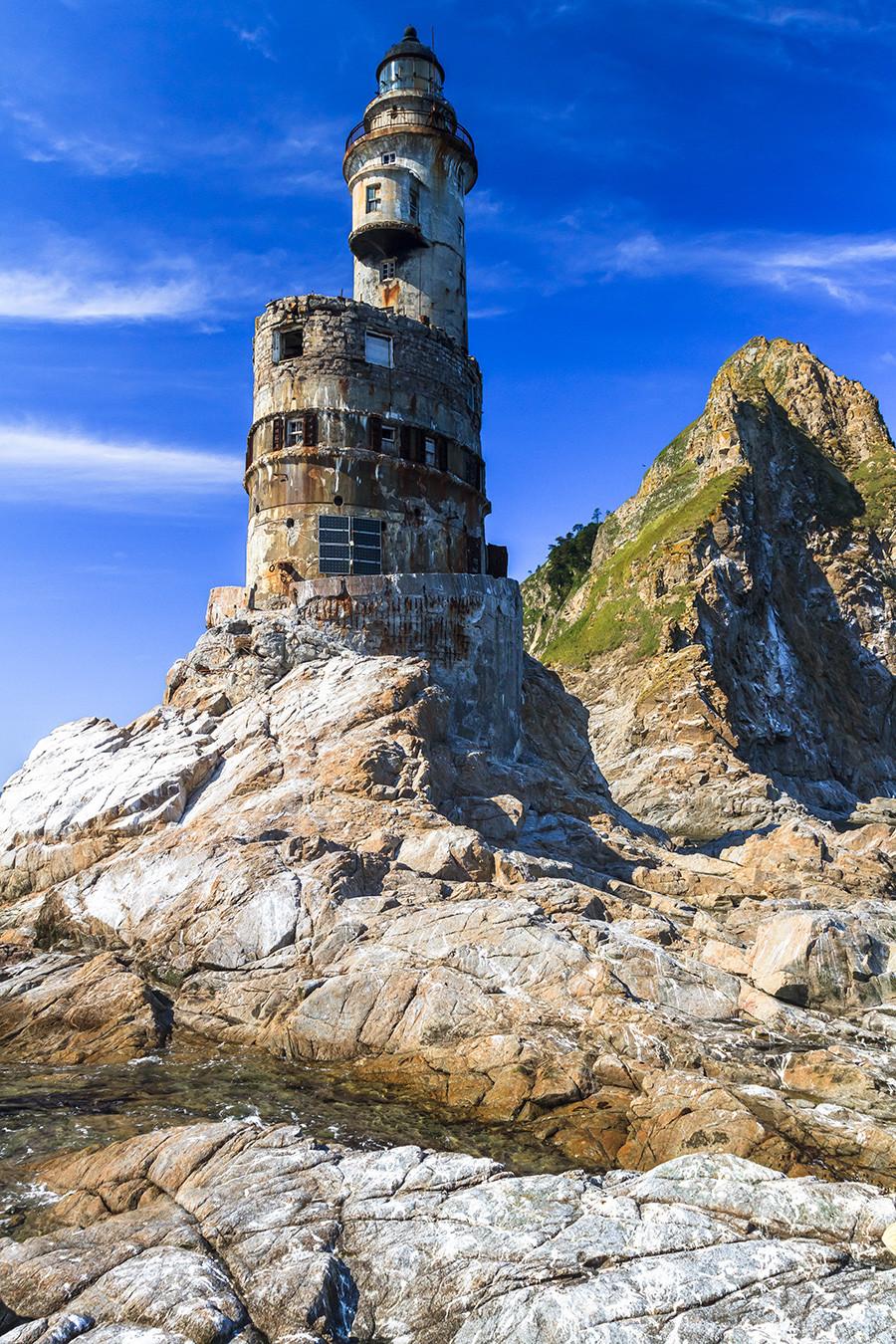 Alter Leuchtturm, Aniwa Kap, Insel Sachalin, Russland.