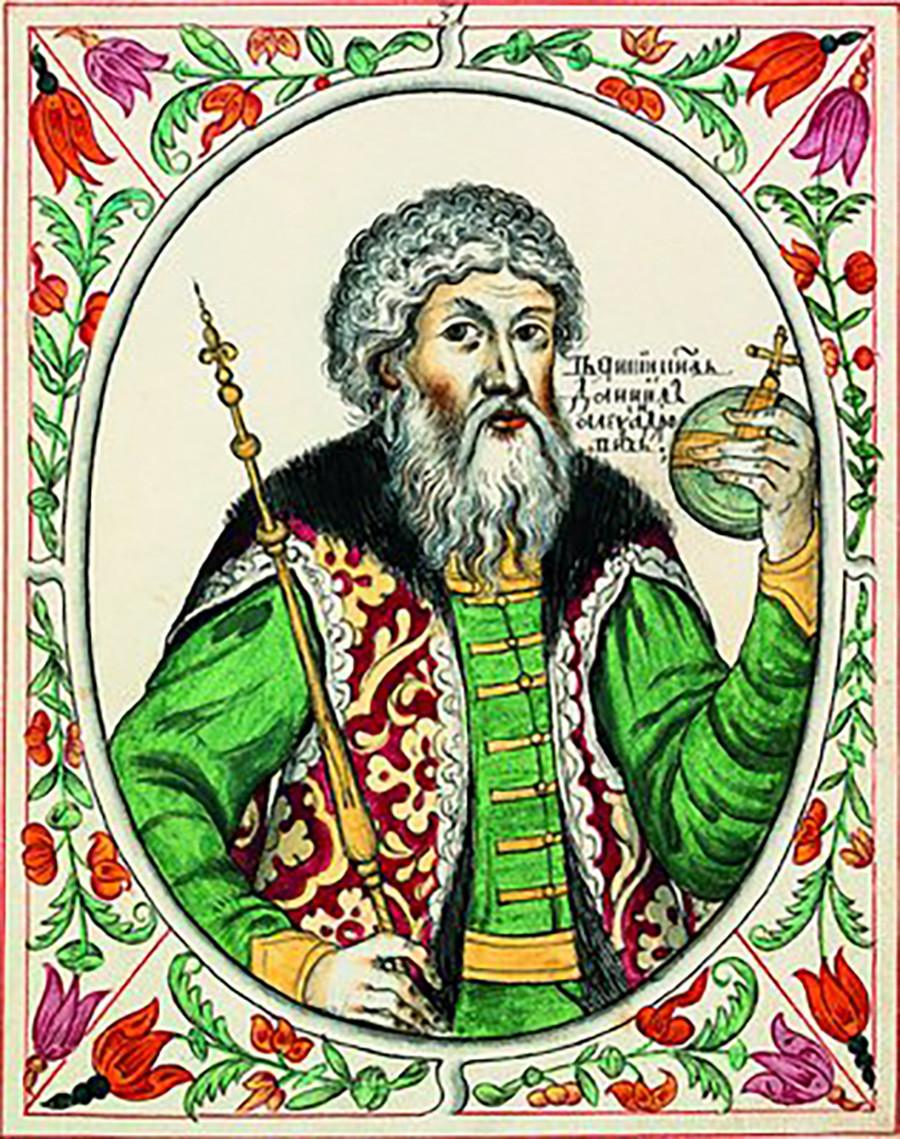 Св. кн. Даниил Александрович. 1672-1673 г.