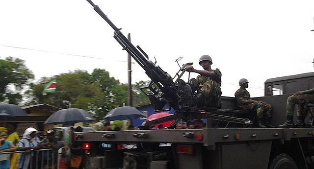 ZPU-1 del Ejército de Surinam.