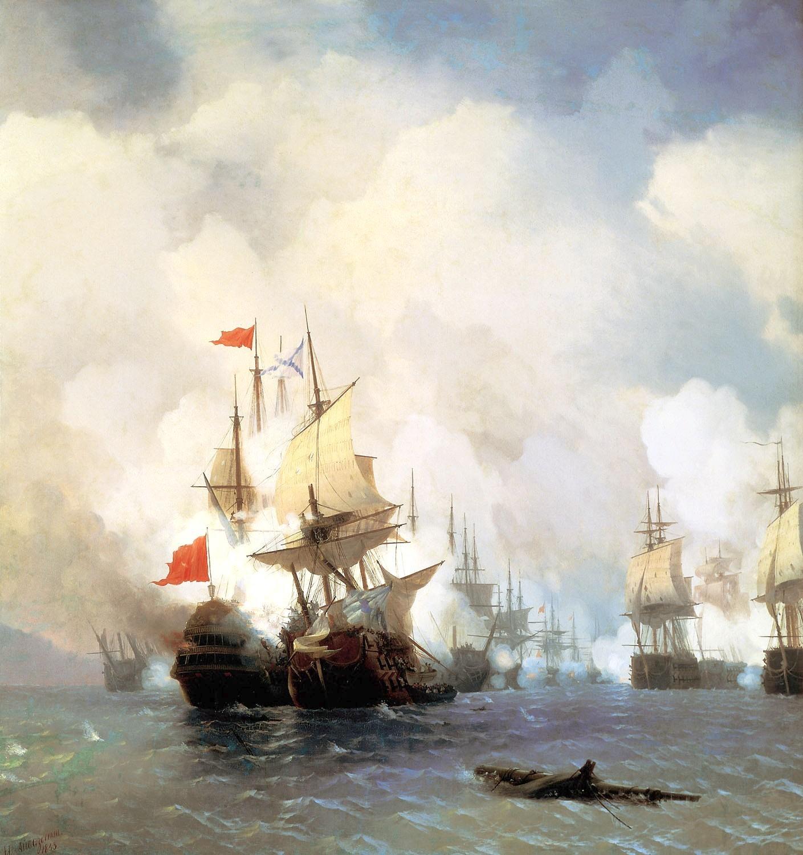 Die Schlacht von Chios.