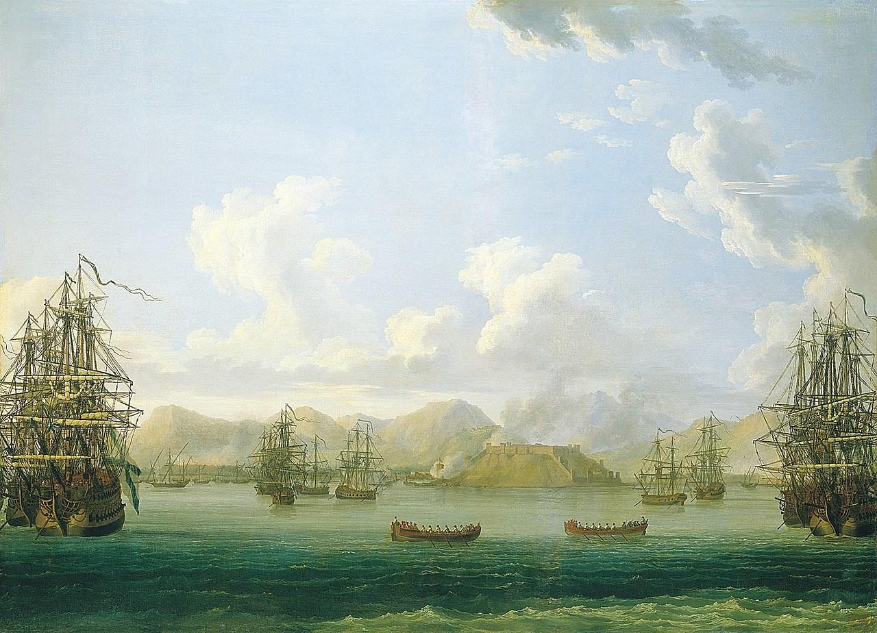 Armada Rusia di dekat Pulau Mytilene.
