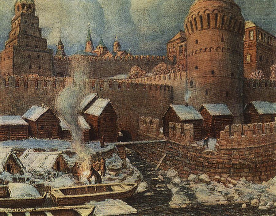 Le déversoir de la Neglinnaïa au XVIIe siècle