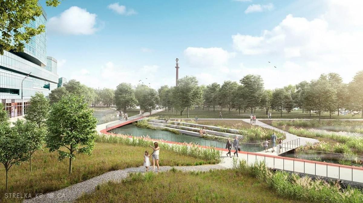 Kako bi lahko izgledal Cvetnoj bulevard z reko Neglinnaja na površju.