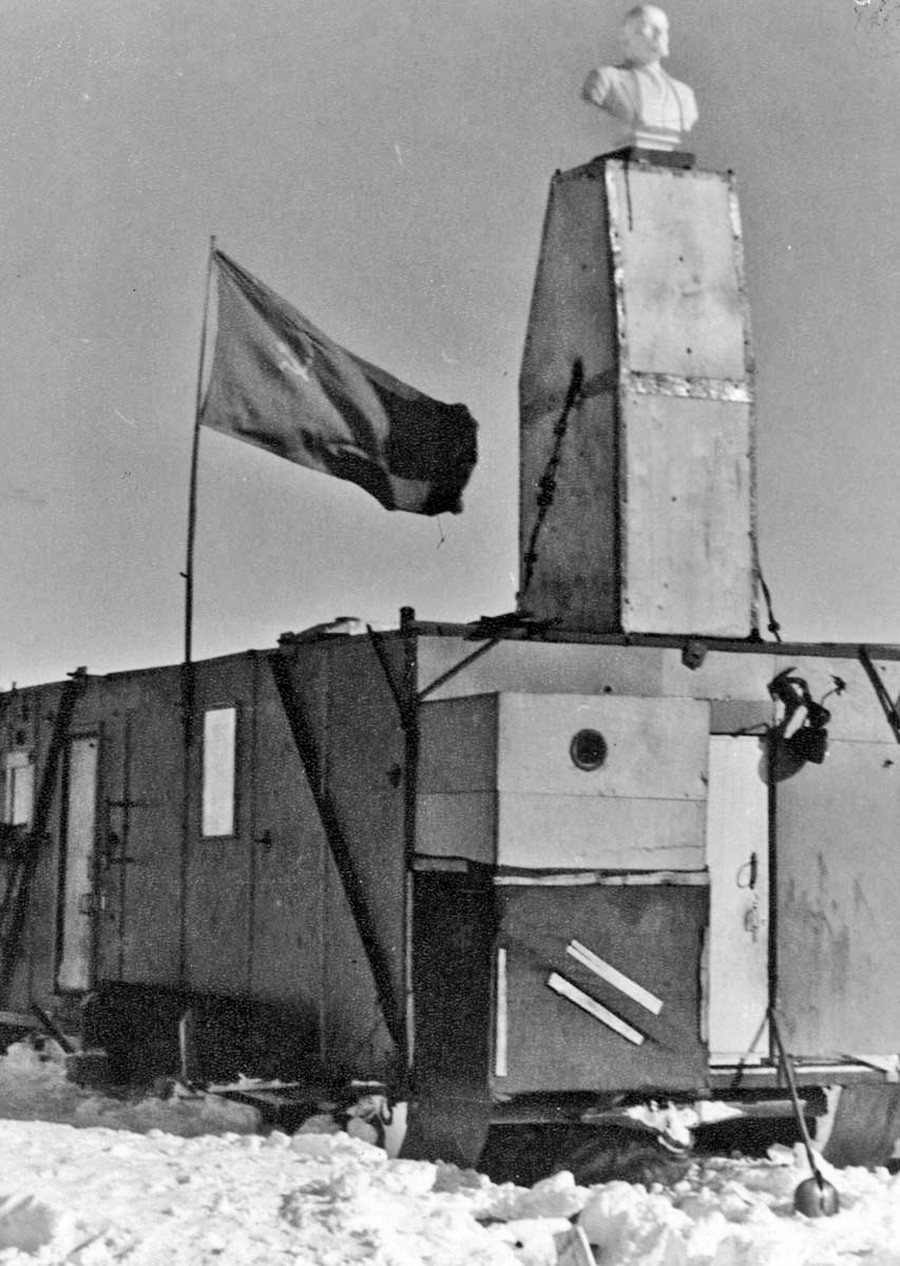 The Soviets also left a note inviting future visitors to use the hut and the provisions.