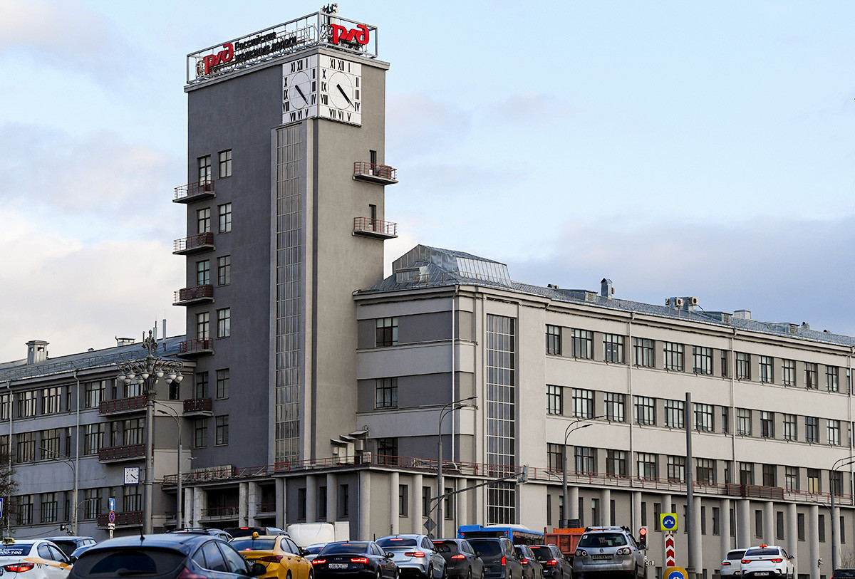 Zgradba Ruskih železnic v Moskvi.