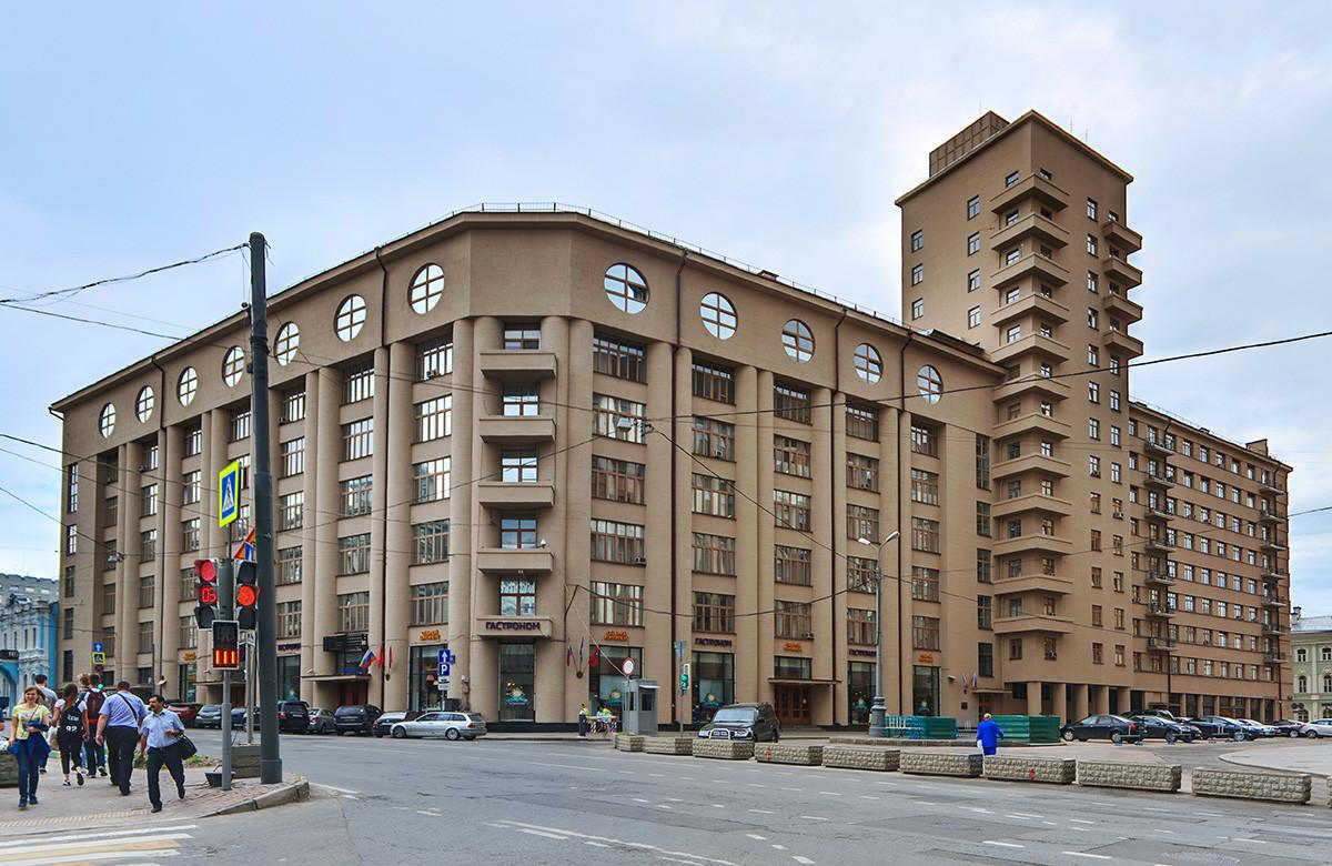Stavba društva Dinamo v Moskvi.