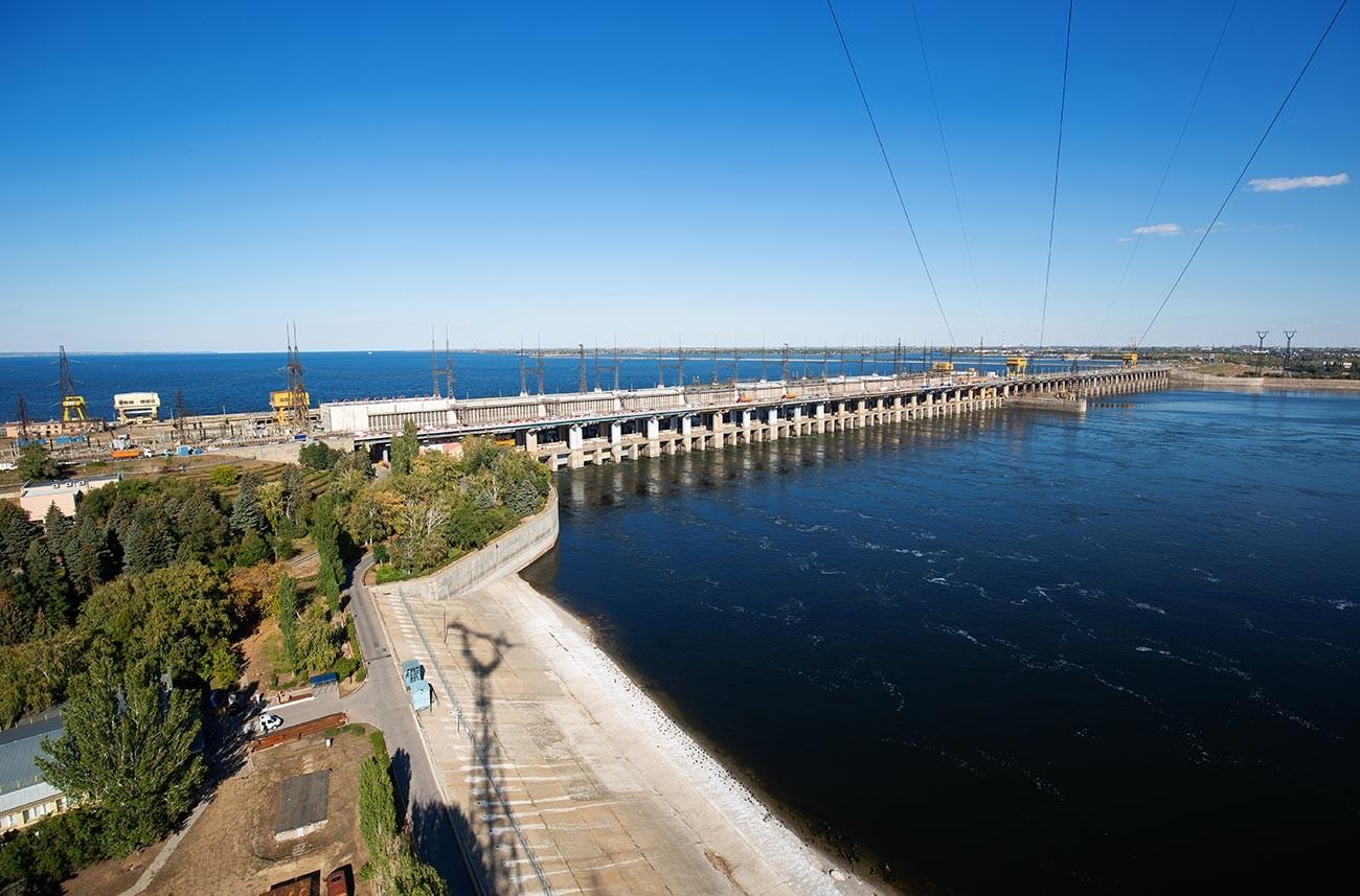 Волжская гидроэлектростанция.