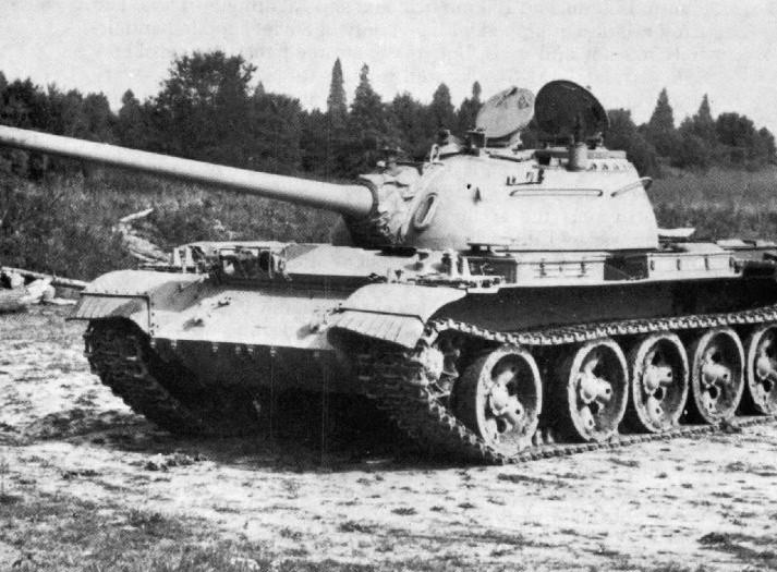 Tanque T-55. Foto de 1981.