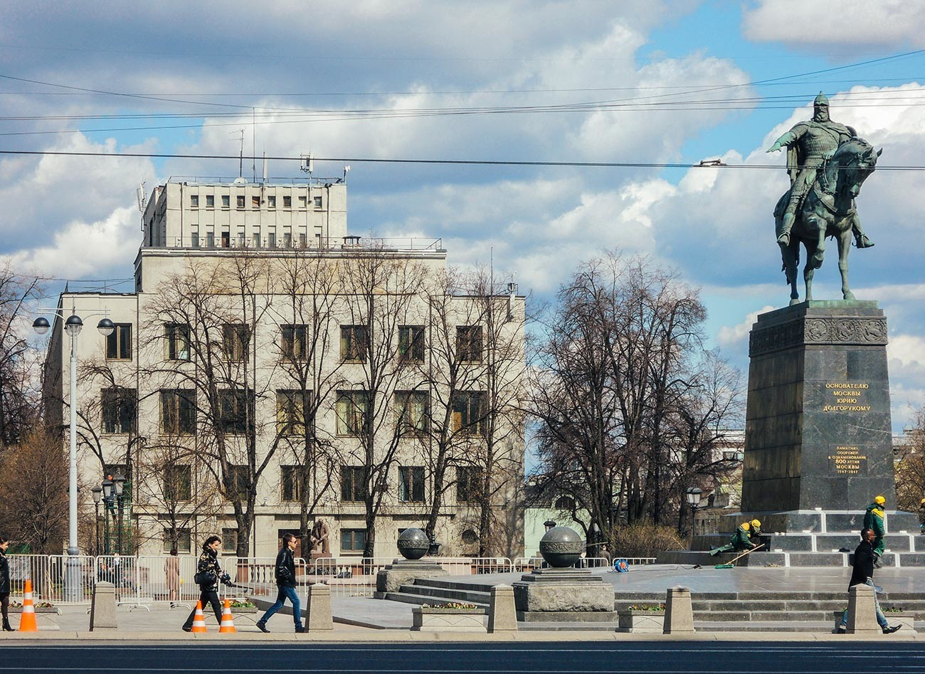 Alun-alun Tverskaya di Moskow, yang di bawahnya terdapat Bungker Sovetskaya.
