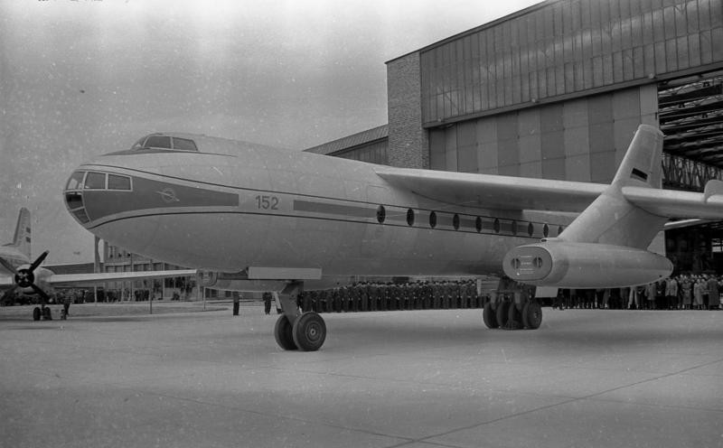 Presentación del avión de pasajeros '152/I V-1' (Dresde-Klotzsche, abril de 1958)