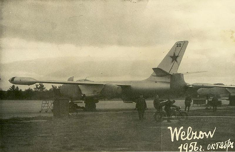Il-28 desplegado en Alemania Oriental. 1956.