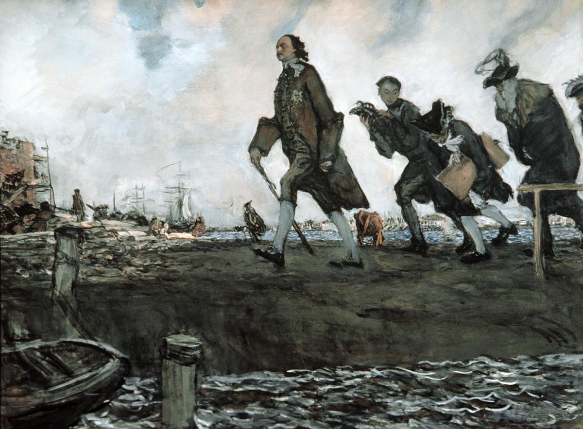 "Слика ""Петар I "", уметник Валентин Александрович Серов (1865-1911), 1907. година, уље на платну."