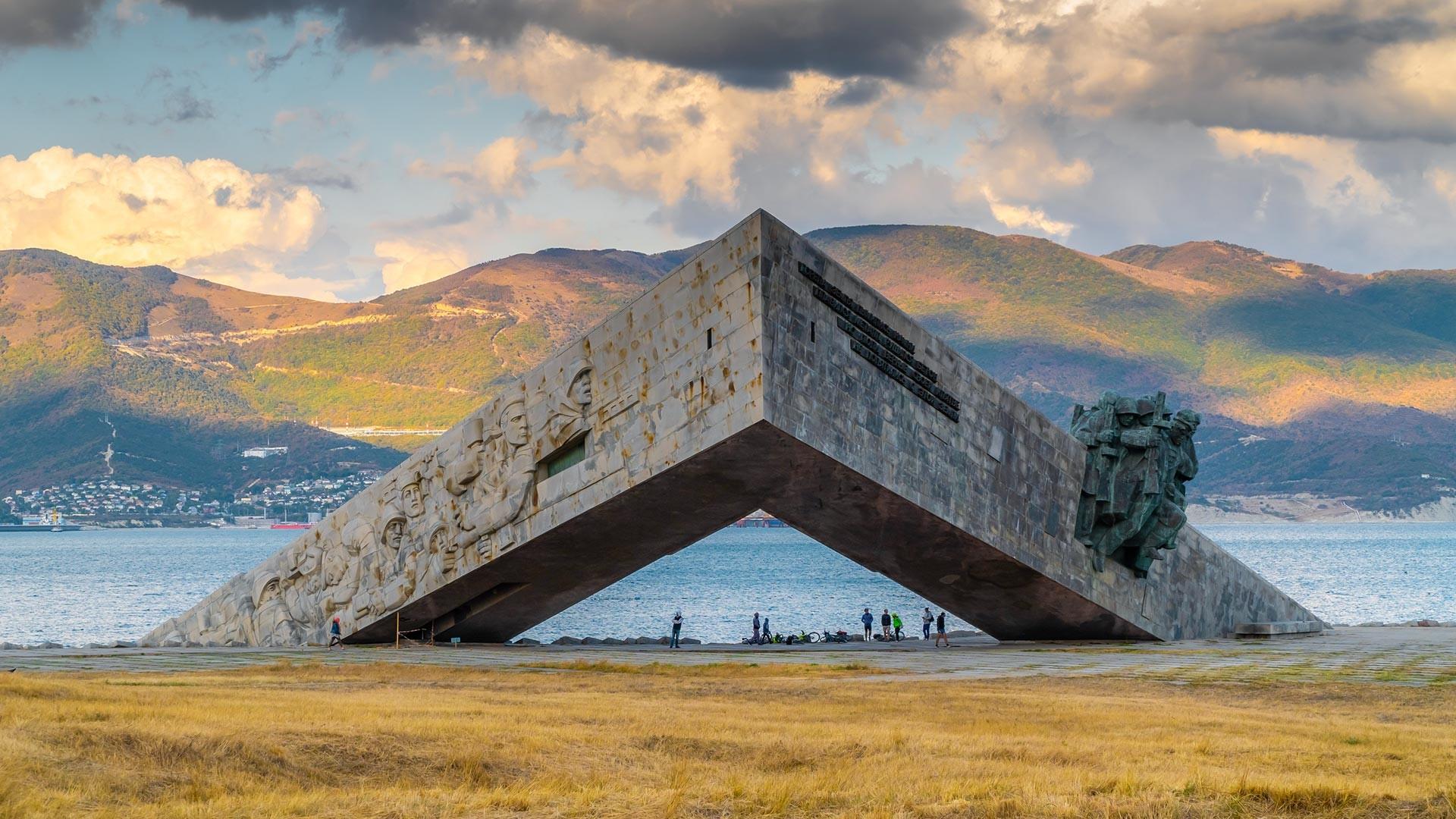 """Denkmal """"Malaja Zemlja"""" in Noworossijsk."""