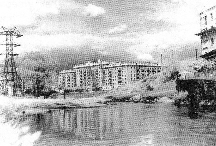 Sungai Tarakanovka saat masih berada di atas permukaan tanah pada 1950-an.