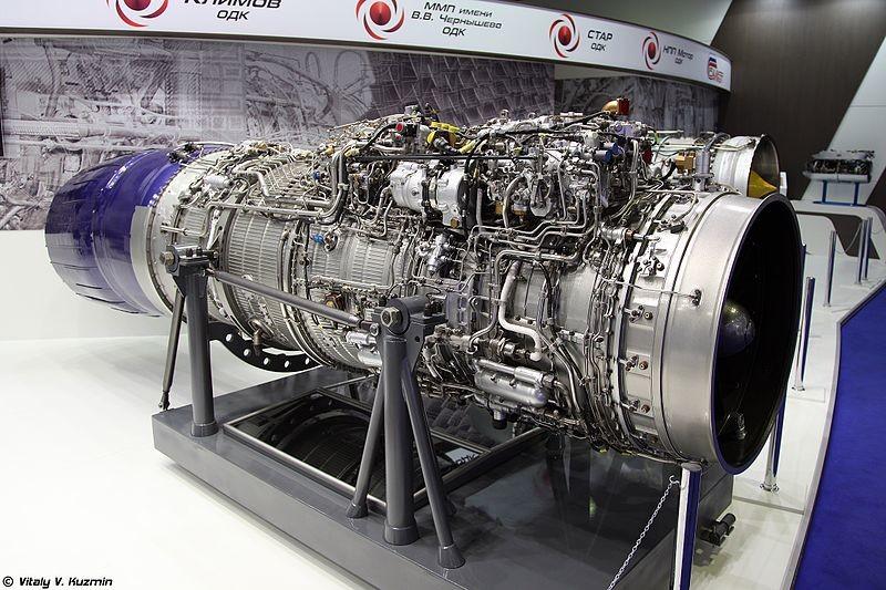 Motor RD-33MK-35 expuesto en el salón MAKS 2015