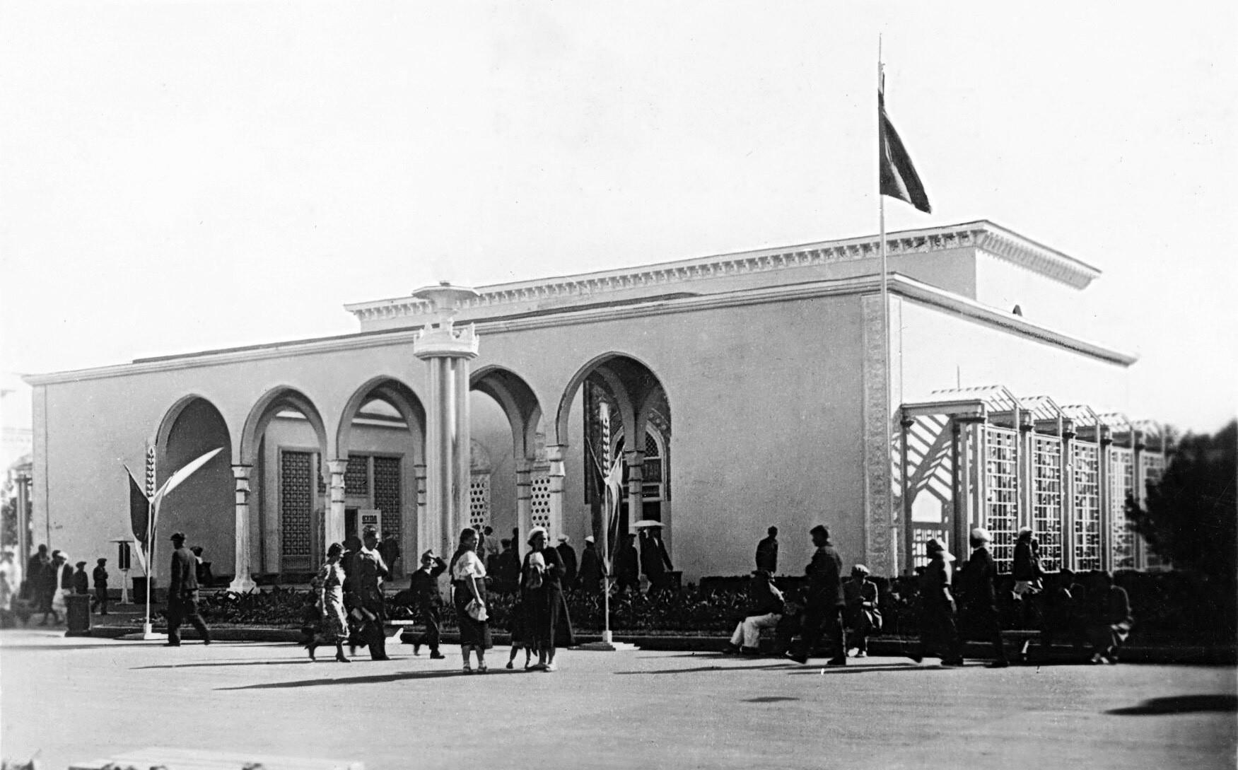 Padiglione della Repubblica Socialista Sovietica Autonoma Tatara in una foto del 1939
