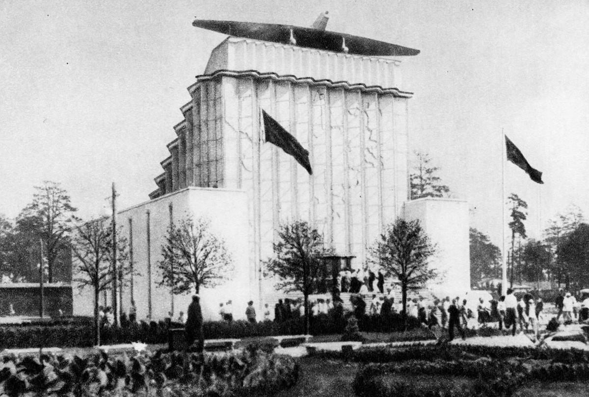 """Il padiglione """"Sovetskaja Arktika"""" (""""Artico Sovietico"""") in una foto del 1939"""