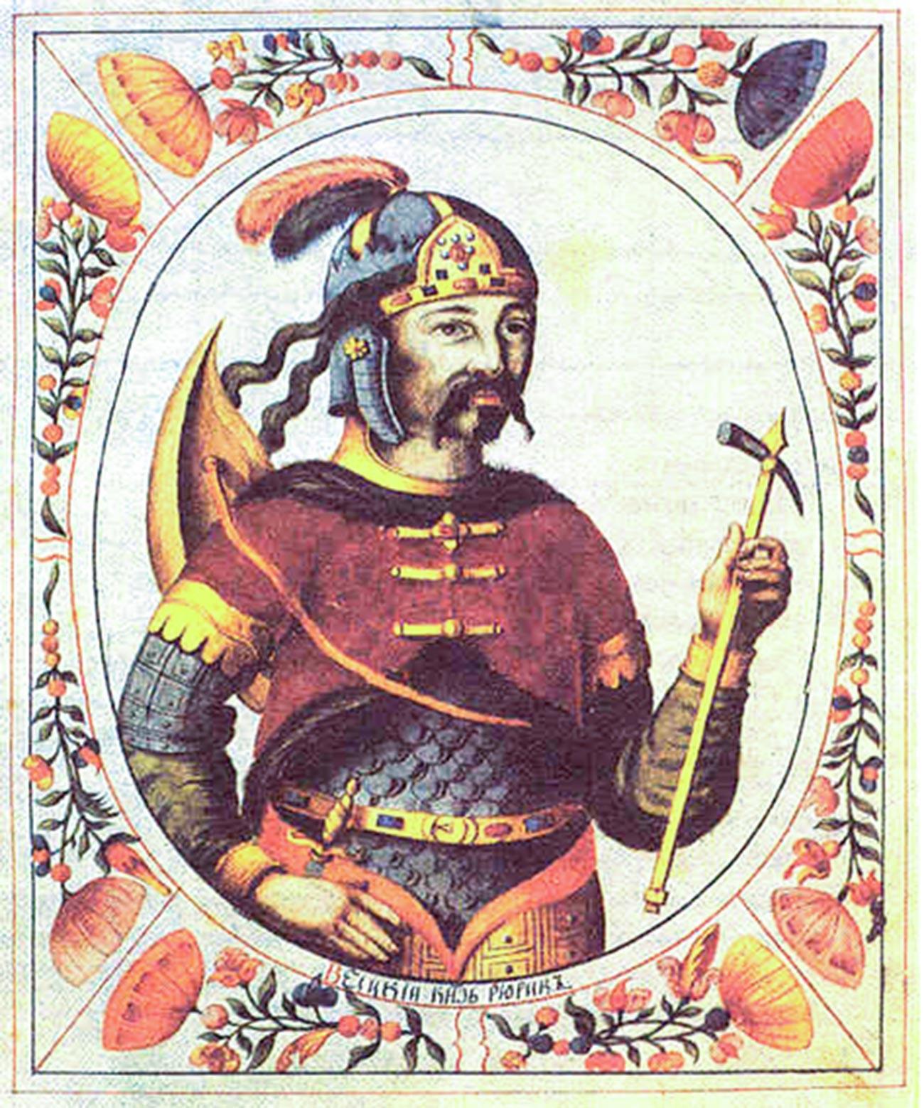 Riourik. Miniature du XVIIe siècle issue du Titulaire du tsar
