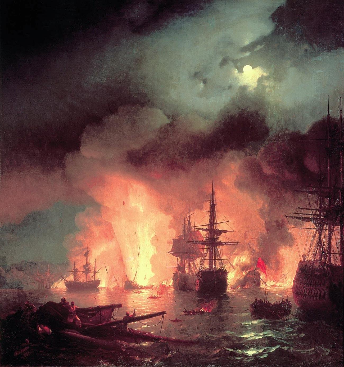 Die Seeschlacht von Çeşme