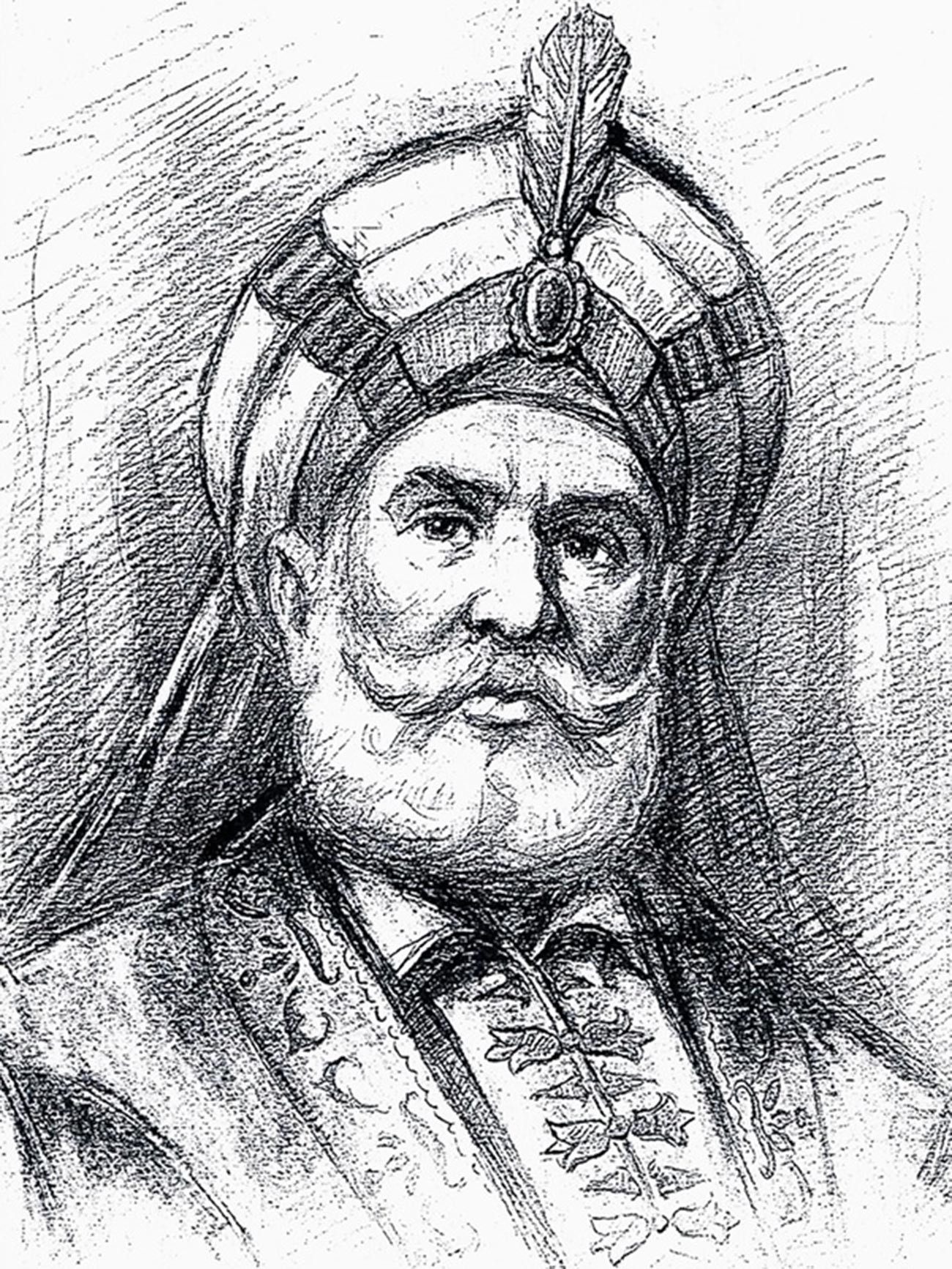 Der palästinensische Scheich Zahir al-Umar al-Zaydani