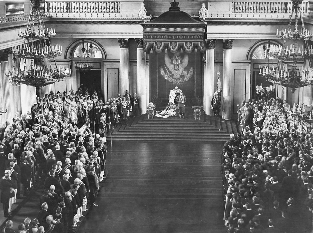 The grand opening of the State Duma and the State Council. The Winter Palace. April 27, 1906.