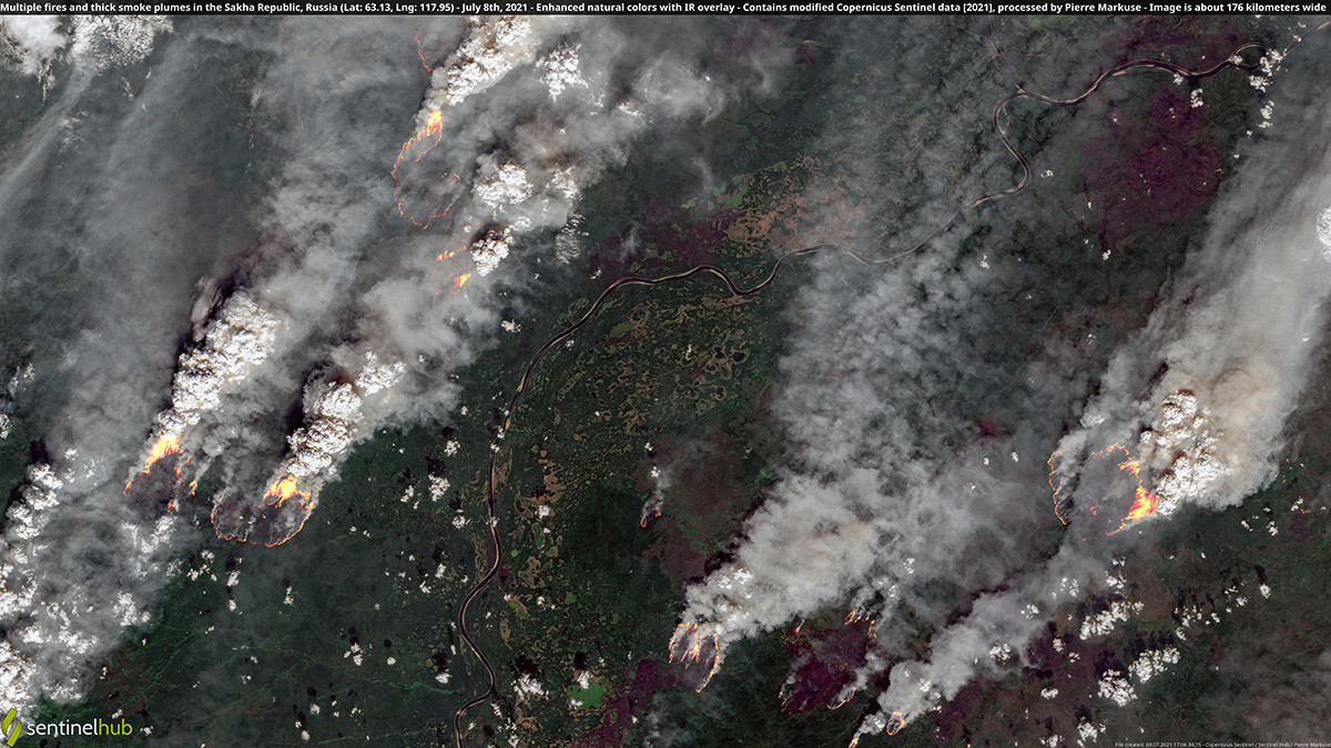 The fires are on such a massive scale that they are visible from space.