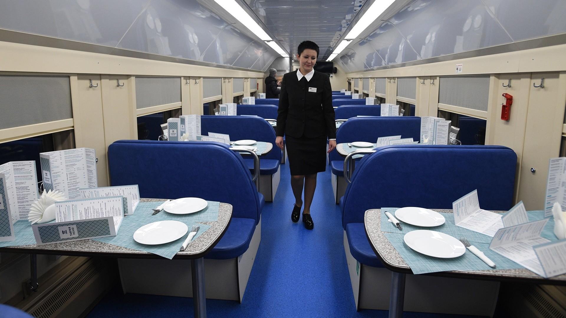 Dans un train reliant Moscou à Simferopol, en Crimée