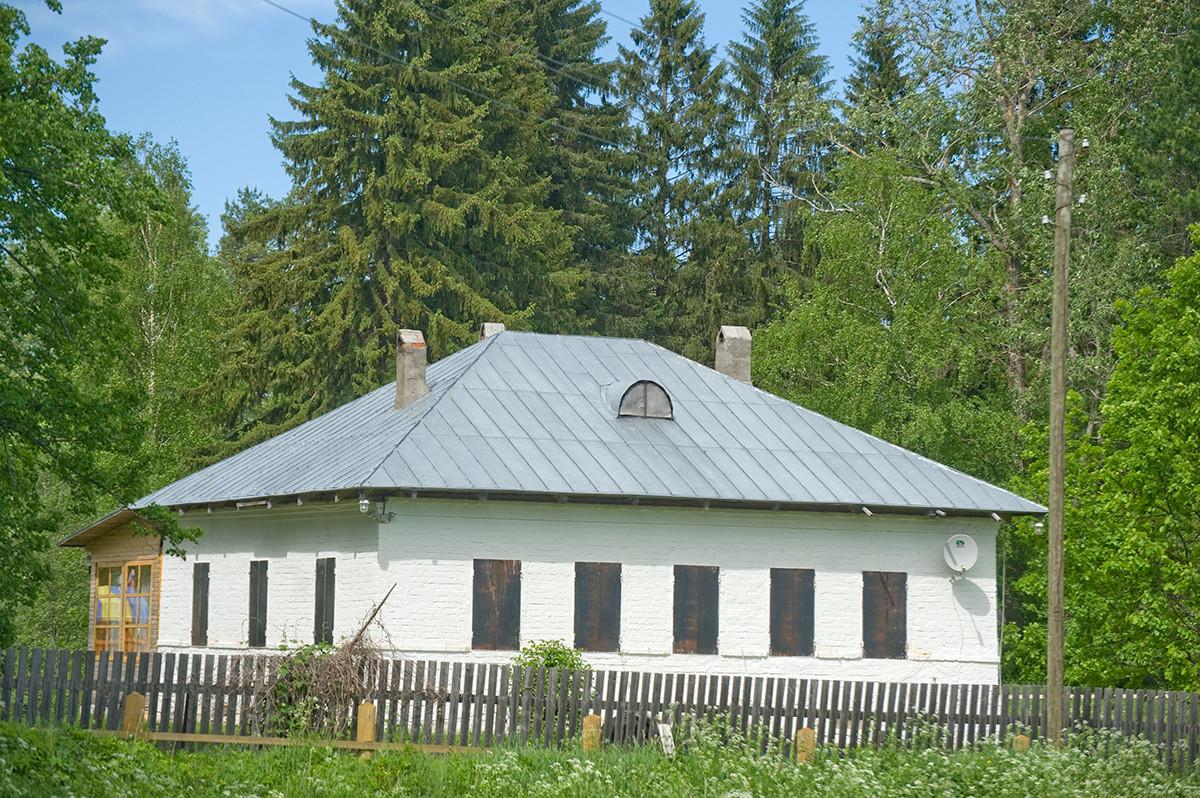 Tsypinsky Pogost. Parish house (priest's house) at Church of Elijah the Prophet. June 1, 2014