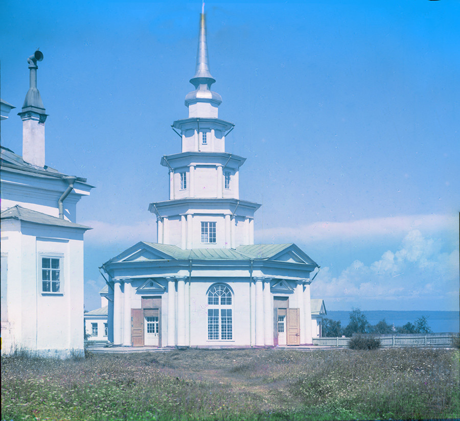 Petrozavodsk. Church of Sts. Peter & Paul, southwest view. Destroyed by lightning in 1924. Summer 1916