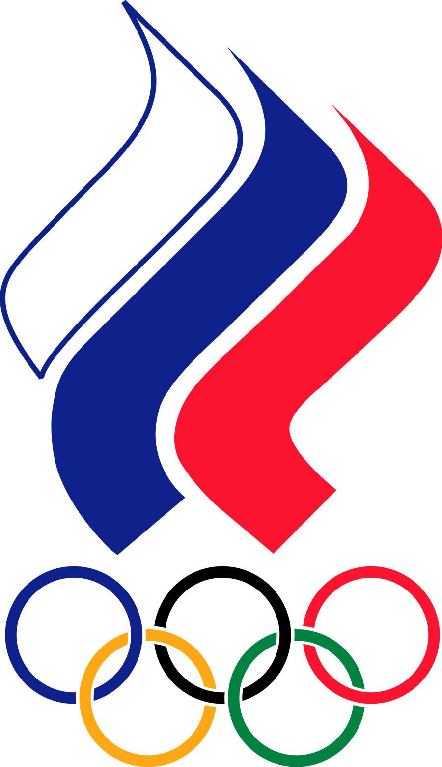 Das Emblem des Russischen Olympischen Komitees.