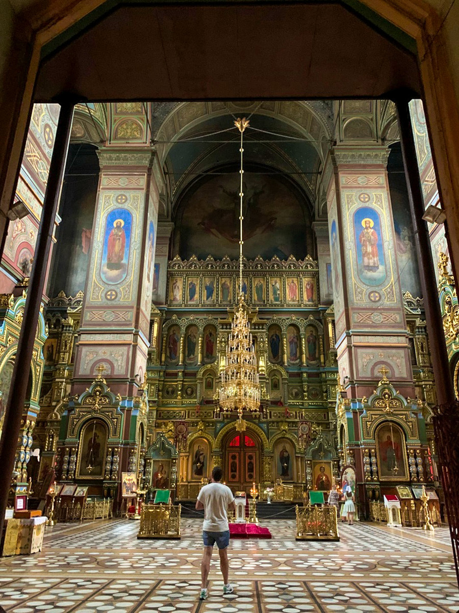 Inside the Ascension Cathedral in Yelets